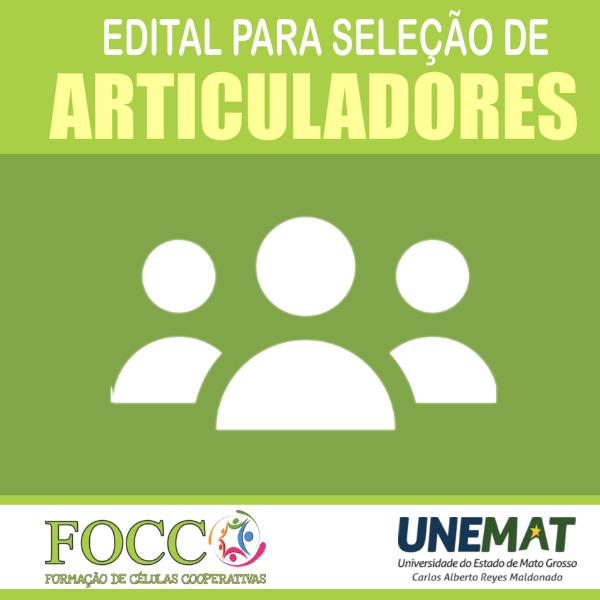EDITAL Nº. 001/2021 - UNEMAT/PROEG/APE – FOCCO – SELEÇÃO DE BOLSISTAS DO PROGRAMA DE FORMAÇÃO DE CÉLULAS COOPERATIVAS